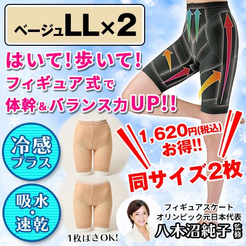 フィギュアシェイプガードルプラス 2枚組 【ベージュ×2・LL】