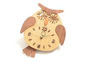 フクロウ振り子時計