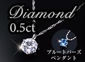 プラチナ台0.5ctダイヤモンドネックレス(特典付)