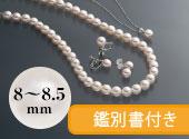 大珠8-8.5�o真珠3点セット イヤリング
