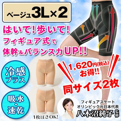 フィギュアシェイプガードルプラス 2枚組 【ベージュ×2・3L】