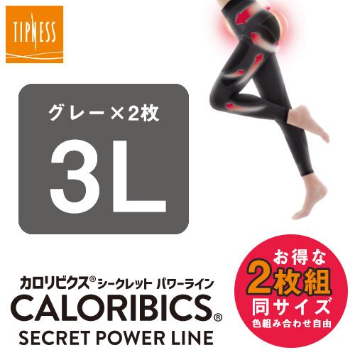 (グレー3L×2) ティップネス カロリビクス シークレットパワーライン 同サイズ2枚組