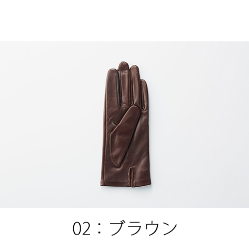tet.(テト)羊革の手袋(婦人用)ブラウン